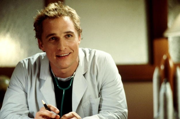 Steve (Matthew McConaughey) in The Wedding Planner...