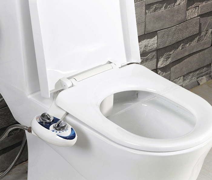 "Promising review: ""I'm obsessed with my bidet and plan on buying one for every bathroom. The whole family loves it, you get a fresh and clean feeling in seconds. This was so easy to install, it took us about 15 minutes."" --Michelle and JeremyGet it on Amazon for $34.95 (down from $89.98). Available in 2 colors."