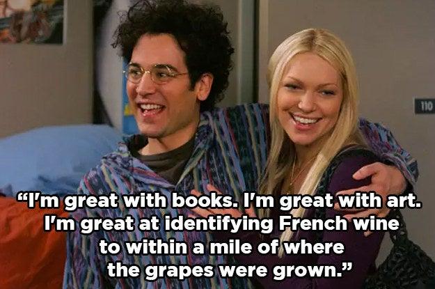 """""""Eu sou ótima com livros. Eu sou ótima com a arte. Eu sou ótimo em identificar um vinho francês a uma milha de distância de onde as uvas cresceram.""""""""Essa namorada foi a pior e, apesar de apenas mostrar como a Laura Preton é uma boa atriz, isso também arruinou totalmente a Donna de 'That '70s Show' para mim.""""— a495cc9f37"""