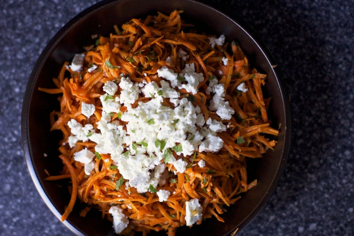 This recipe has been a favorite of mine for many years and I don't think I'll get tired of it any time soon. Spicy but super fresh, this is the perfect carrot salad. Get the recipe here.