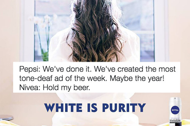 "Nivea Says It's Sorry For An Ad Boasting ""White Is Purity"""