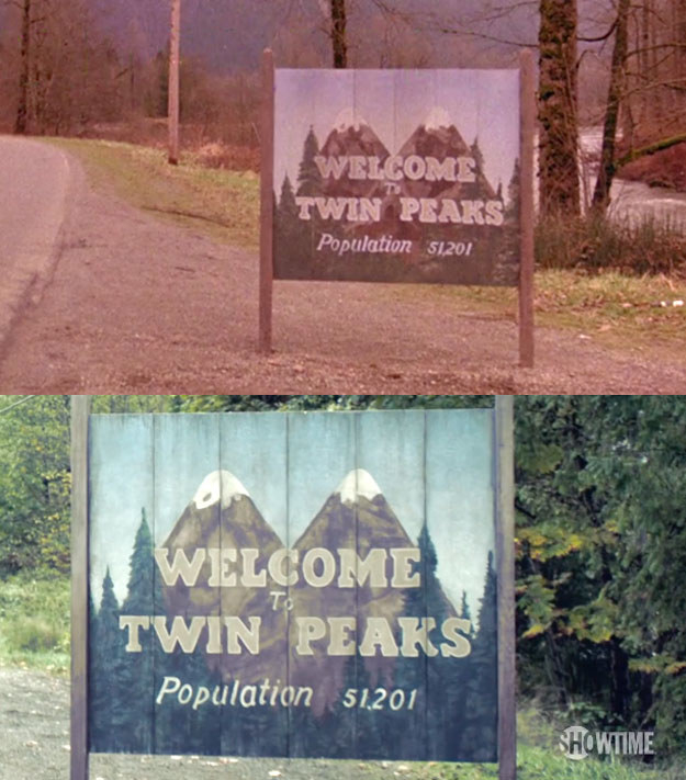 """The artist who created the """"Welcome to Twin Peaks"""" sign had to re-create it for the upcoming new season on Showtime."""