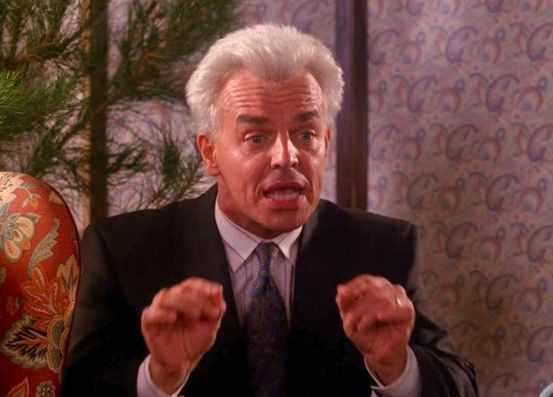 """Ray Wise's hair started to fall out from having it bleached for Leland's """"white hair"""" look."""