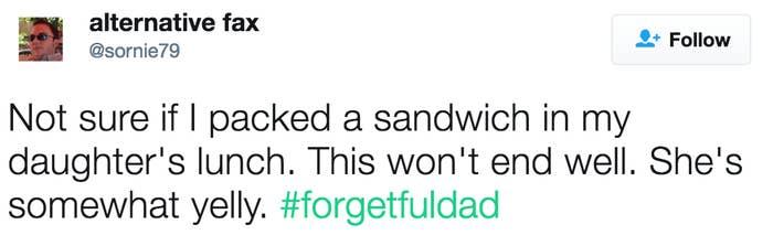 (Oder völlig vergessen, ihnen überhaupt etwas mitzugeben.)