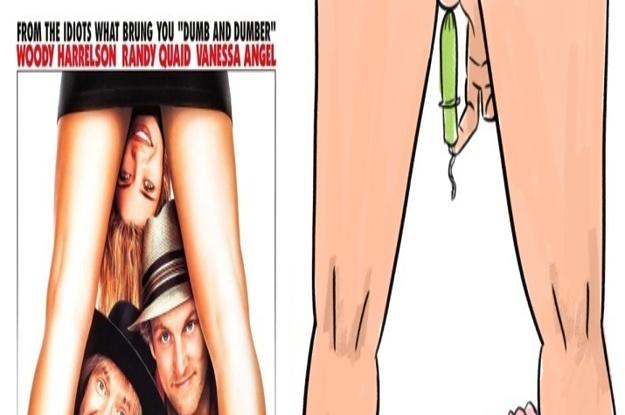 映画ポスターのよくある構図 実際はこれが正しいはず