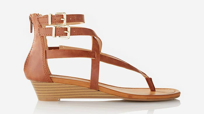 bdfca2033d24 A duo of wedges for a light stroll on the line between trendy and comfy.