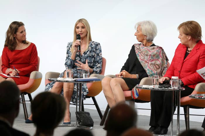 Ivanka Trump at the W20 conference in Berlin on Wednesday.