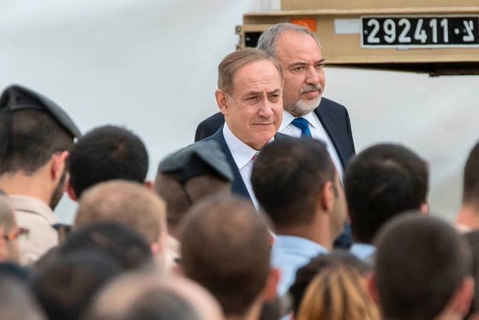"""Even Bibi himself looks perturbed by the change in this April 2 photo. """"Have I made the right choice?"""" his eyes seem to say. """"Are people staring? People are definitely staring."""" Defense Secretary Avigador Lieberman stares ahead, determined to not let the photographers capture him marveling at his bosses new 'do."""