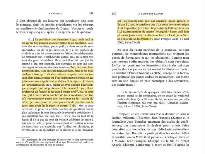 Extrait du dossier «Une création illégitime? Le Front national de la jeunesse» publié dans la revue Les Temps des savoirs numéro 7, en 2005.