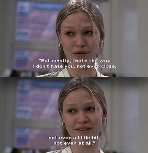 Image shows the main characters from    Things I Hate About You  HelloGiggles