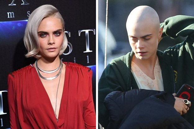 These Photos Of Cara Delevingne With A Shaved Head Are Quite Something