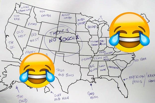 It's Thanks So We Asked Brits To Label The United ... on us map year, us map display, us map transparency, us map card, us map scrapbook, us map feature, us map country, us map banner, us map canvas, us map pattern, us map draw, us map star, us map format, us map track, us map watermark, us map postcard, us map title, us map paper, us map copy, us map number,