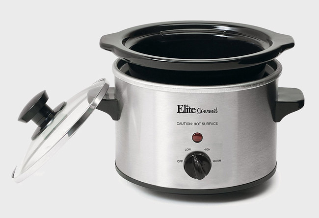 warm up a mini slow cooker to make small portions just for yourself or give your breakfast routine a major upgrade