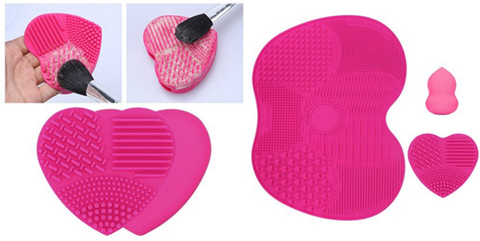 Get the brush cleansing mats and beauty blender here.