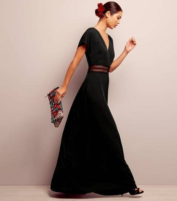 21e5430d59f A maxi dress with gorgeous crochet detailing around the waist. Excuse me
