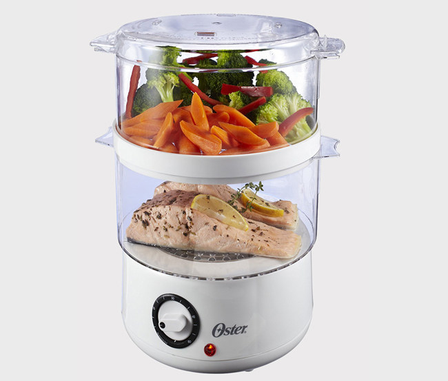 add a countertop steamer to your kitchen crew for a healthier way to cook and reheat your food
