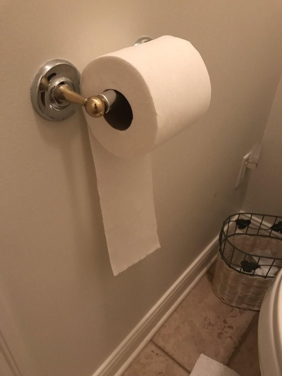 Toilet paper boobs