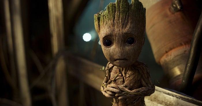 Guardians of the Galaxy Vol. 2's cute Groot (voiced by Vin Diesel).