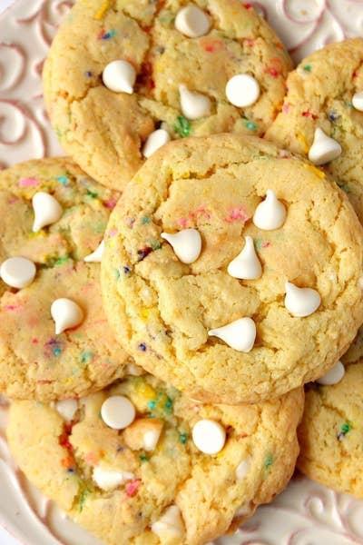 Crunchycreamysweet 2017 03 18 Birthday Cake Mix Cookies Recipe