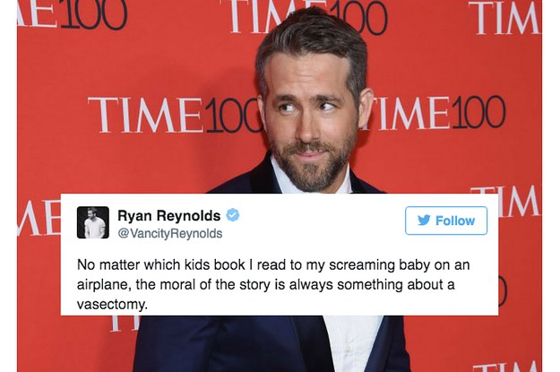 28 Ryan Reynolds Tweets About Parenting That Will Make You Laugh Out