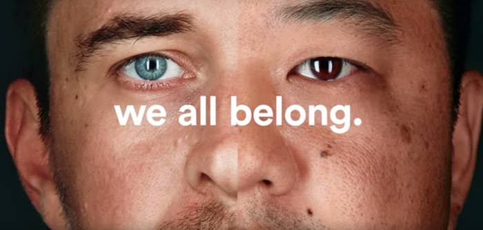 An image from Airbnb's #WeAccept campaign, which launched during the Super Bowl.