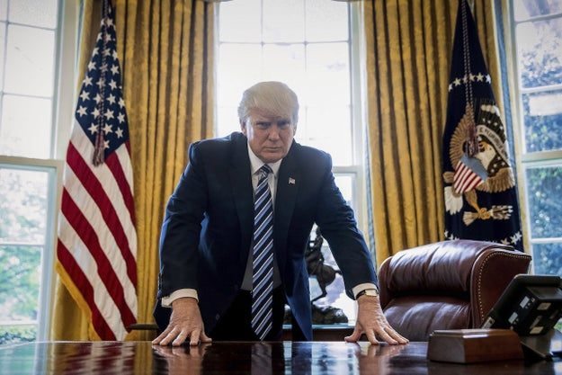 President Trump can order himself a Coke with the simple push of a red button installed at his desk because he's president and he can.