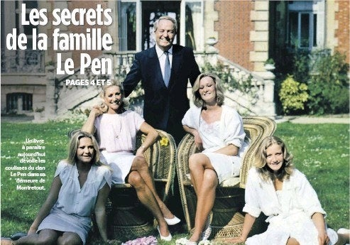 (Also her family's estate was given to them by a man named Hubert Lambert who was a wealthy cement-maker who hoped Le Pen's dad would be the one to finally bring monarchy back to France.)
