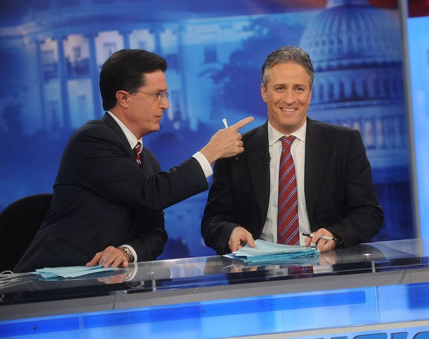 The Colbert Report and The Daily Show With Jon Stewart came back on air with no writers.