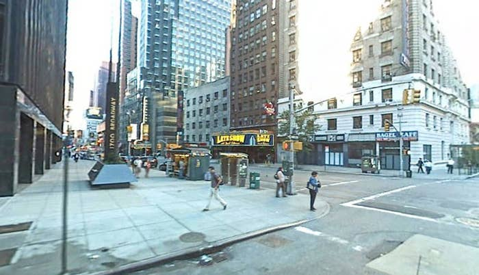 The corner of Broadway and West 54th St., captured by Google Maps in 2007.
