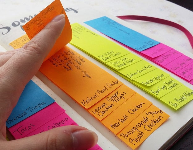 Remember your favorite recipes by organizing them in a meal-planning bank.