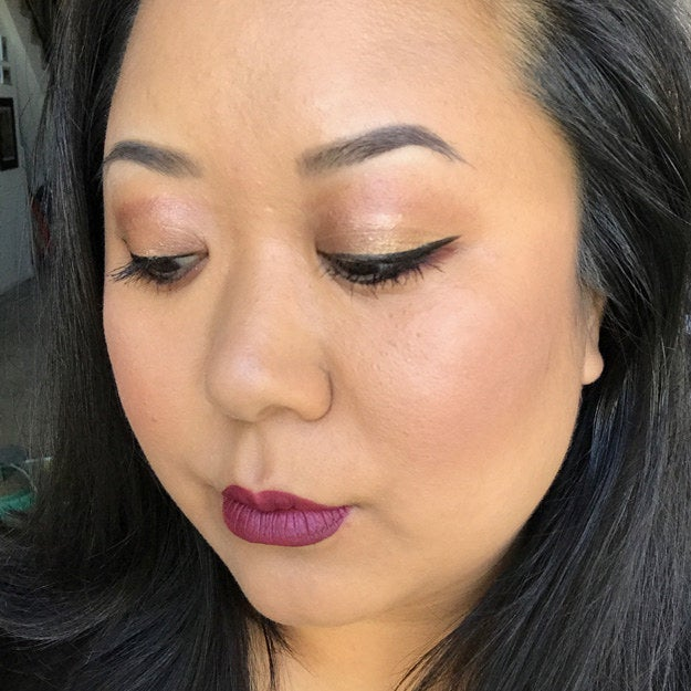 Okay, FIRST of all, I realize that my color palette is not the same as Nikkie's/Adele's — I had to improvise all of the rose tones in the eye and cheeks with what I had and this was the only lip color I owned that was remotely close to that pretty red (I used Sephora's cream lip stain in Blackberry Sorbet). Again, I opted out of the false lashes — they're just SO much work!! In retrospect, false lashes probably would've made the look more 'glam,' though. Still, I was pretty proud of the improvement in my brows! I did really like this look, but AGAIN, felt like it drew just way more attention than I wanted out in public (although, I was starting to suspect this was just in my head).Verdict: Thumbs partially up.