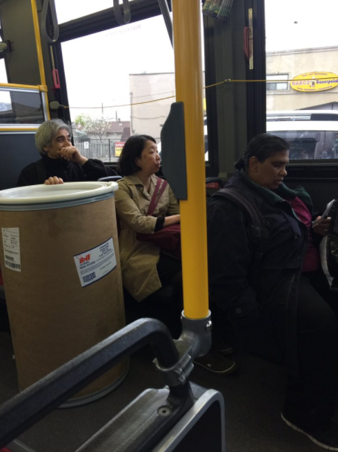 It was a normal Friday evening on the bus in Toronto until...wait, what's that?
