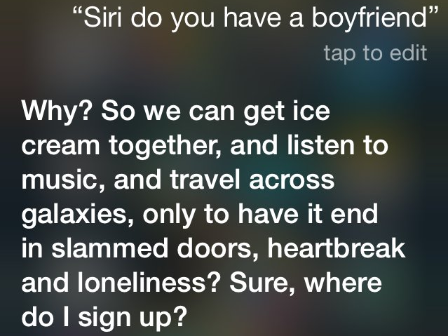 how to get siri to say something right