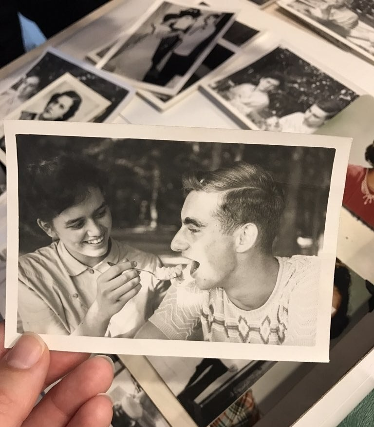"""After they graduated in 1953, they went off to different colleges. They married other people and had children. Other than high school reunions and the infrequent phone call, they didn't really keep in touch.""""He had his life and I had my life,"""" Kevorkian told BuzzFeed News. """"He probably called me four times over the last 60 years.""""Then, in the fall of last year, Kevorkian received a letter from her high school sweetheart. She responded, saying that she wanted to see him.In December, Bowman drove about five hours to see her in South Bend, Indiana, and they had their first date since the 1950s. """"It was just like being 17 again,"""" Kevorkian said."""