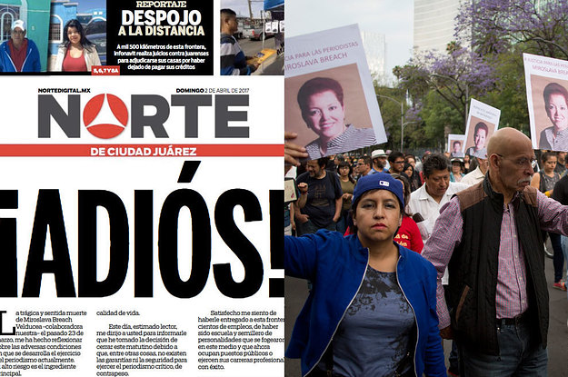 A Newspaper In Mexico Shut Down After A Journalist Was Killed