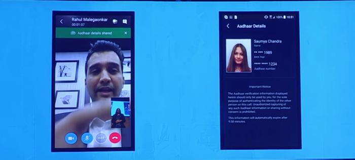 At an event in Mumbai held in February, Microsoft showed off Skype Lite's built-in support for Aadhaar in the most vanilla of demos: a job interview over Skype.