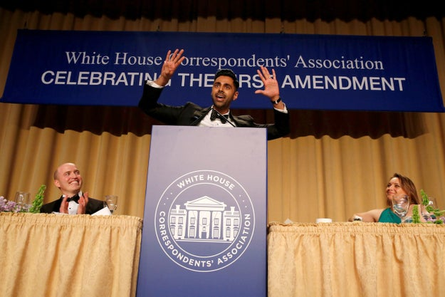 Hasan Minhaj, a correspondent for The Daily Show, performed at the White House Correspondents' Dinner on Saturday and, while President Trump didn't attend, there were plenty of laughs at his expense.