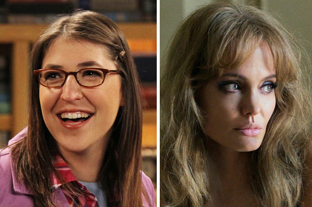 Mayim Bialik and Angelina Jolie: