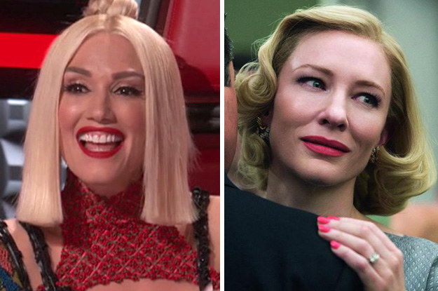 And finally, Gwen Stefani and Cate Blanchett: