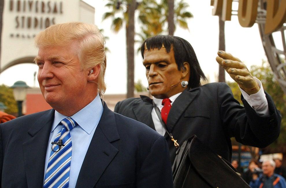 Momentos antes de que le atacase Frankenstein en los Universal Studios de Hollywood en 2006: