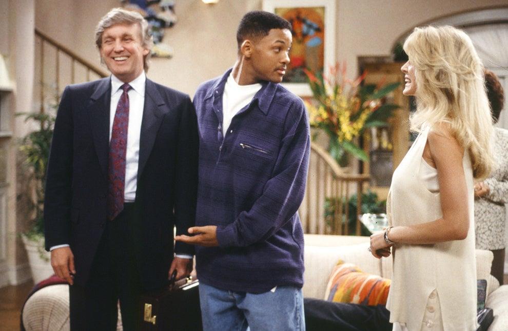 Trump en el plató de El Príncipe de Bel-Air en 1994: