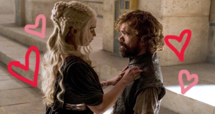 Tipo, OI! No fim da 6ª temporada, Tyrion consola Daenerys após ela terminar com Daario, dizendo: 'Ele não foi o primeiro a amá-la e também não será o último'. Com todo o conhecimento dele sobre governar um reino e com toda a fodacidade dele, eu shippo muito.