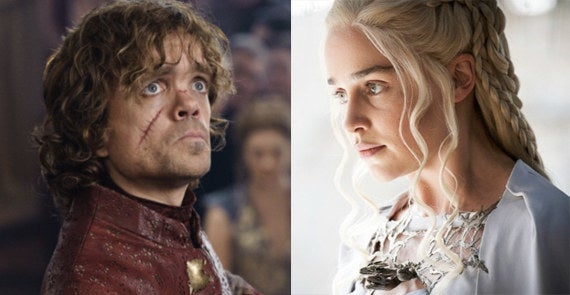 In the books, Tyrion is described as having hair 'so blonde as to be almost white' and two different-colored eyes — descriptions that also match those of the Targaryen bloodline. Also, when Tyrion kills his father, Tywin says, 'You... you are no... no son of mine.' You'd think Tywin's hate for Tyrion carries to his last moments, but maybe it's George R. R. Martin being sly. Since Tyrion has joined forces with Dany in the show, do you think he could learn a big truth about his past?—janab8