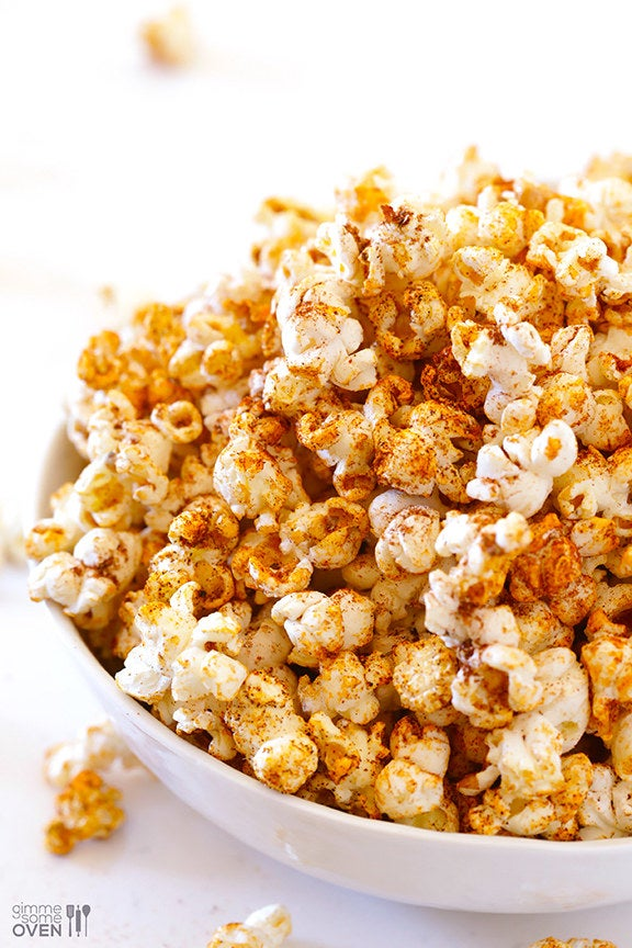 Get the recipe for this homemade taco popcorn from Gimme Some Oven.