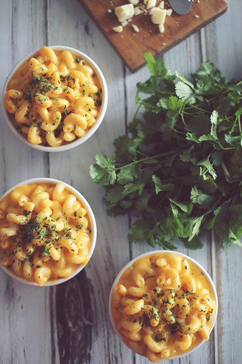 Get the recipe for this healthy-ish, microwaveable Easy Mac from Dashing Dish.