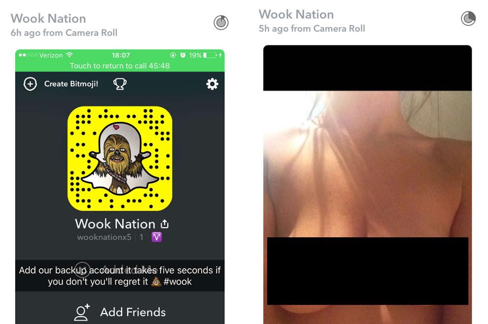 Tits Snapchat Nude Babes Gif