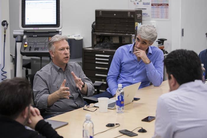 Apple executives Phil Schiller and Craig Federighi