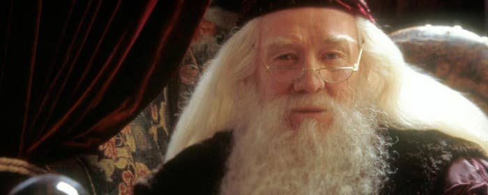 After Harris died in October 2002 – in between filming ending on Chamber of Secrets and starting on Prisoner of Azkaban – Dumbledore was recast. He was played by Michael Gambon for the remaining six films.