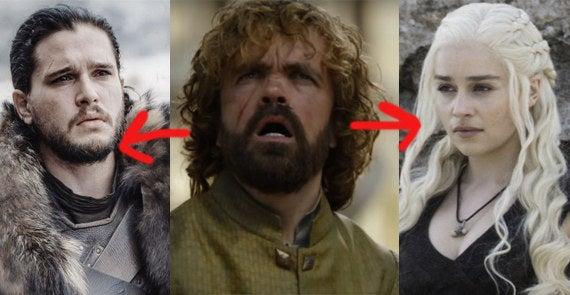 Obviamente Daenerys é uma das cabeças — ela é a MÃE dos dragões. Tyrion é o elo de ligação dessa teoria, porque não apenas é amigo de Jon como sempre tratou bem os Starks (tipo como quando casou com Sansa e sempre fez de tudo para deixá-la o mais confortável possível). O usuário do Reddit que criou essa teoria acha que Tyrion convencerá Dany a se aliar a Jon, o que faz 'Jon ser o gelo, Dany o fogo e Tyrion a ponte'. Muito bom.—amberw49