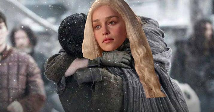 Apesar de ambos serem, supostamente, a reincarnação de Azor Ahai, a lenda diz que o guerreiro foi forçado a enfiar a espada na sua esposa para liberar todo o poder da lâmina. Então, se os dois casarem, provavelmente um deles terá de matar o outro para cumprir o seu destinto. Muito escroto, mas condizente com 'Game of Thrones'.—lonelycat